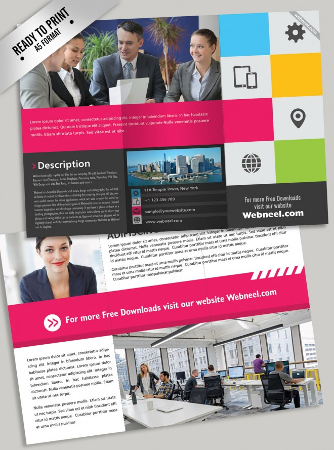 10 trifold brochure design template
