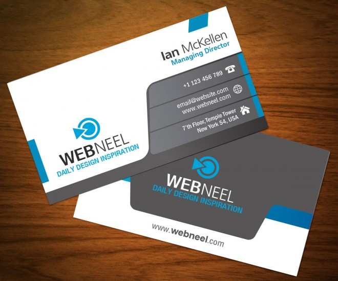 dark business card template 12