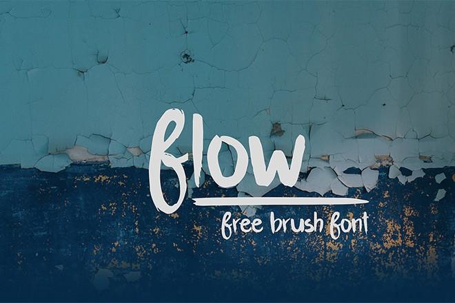 free font - flow