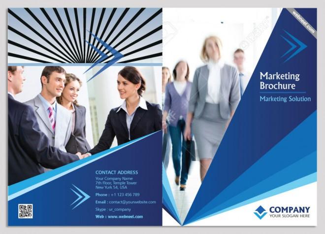 15 colofrul marketing bifold brochure design template
