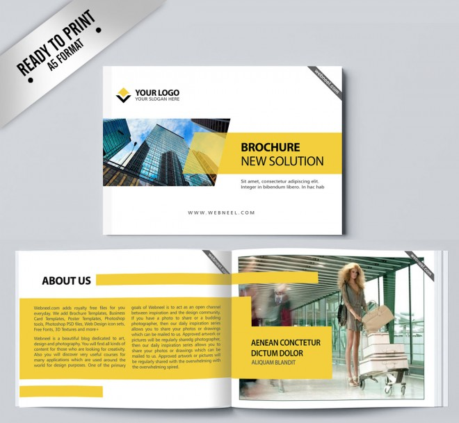 15 free corporate bifold and trifold brochure templates free