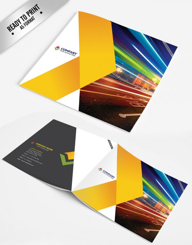 colorful brochure templates - 15 free corporate bifold and trifold brochure templates