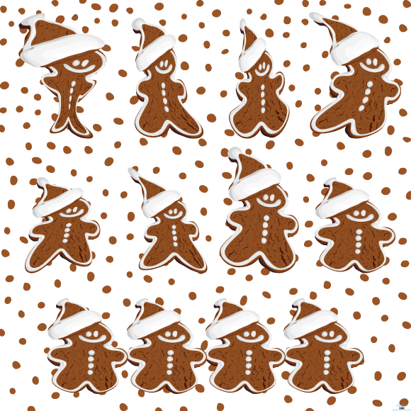 gingerbread cookies vector eps