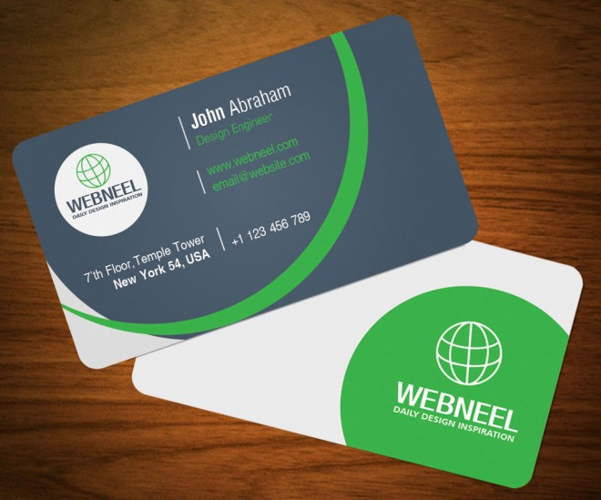 simple business card template 19