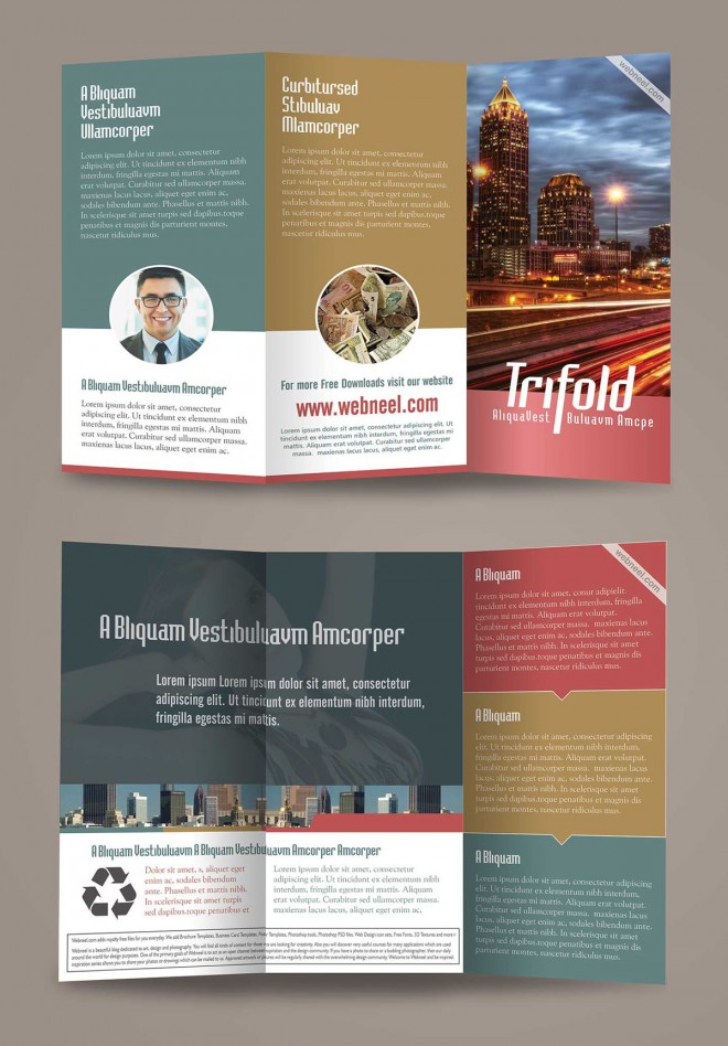 15 free corporate bifold and trifold brochure templates for Tri brochure template