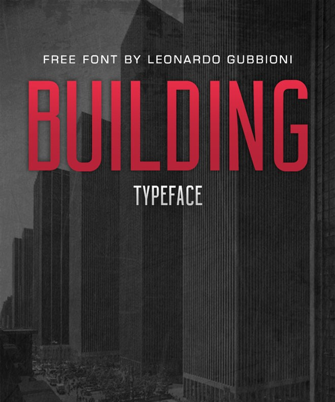 modern free font - building