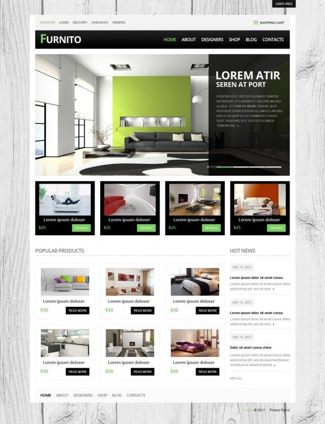 furnito - free drupal theme