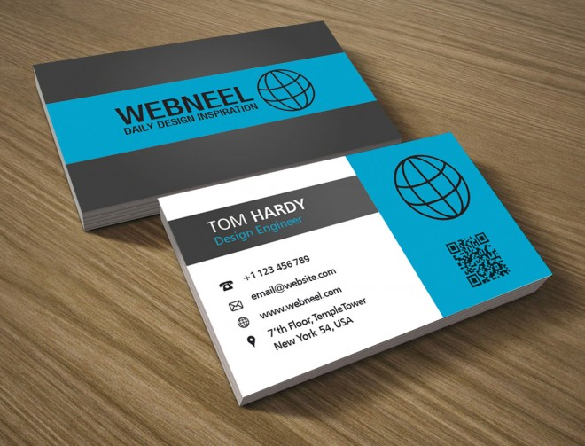 stylish business card template - free download