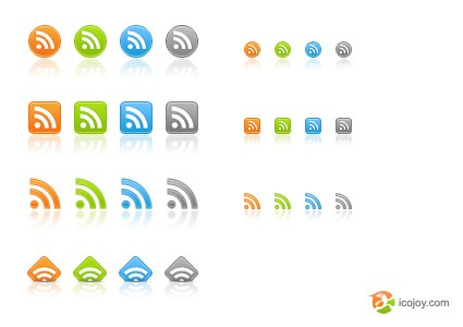 25 web rss icons