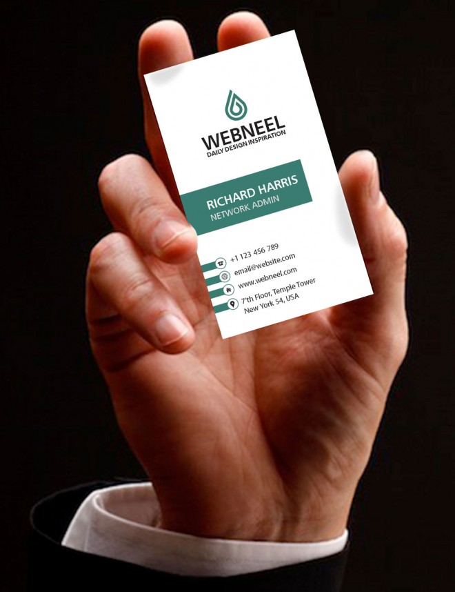 simple business card template - free download