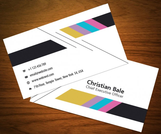colorful business card template - free download