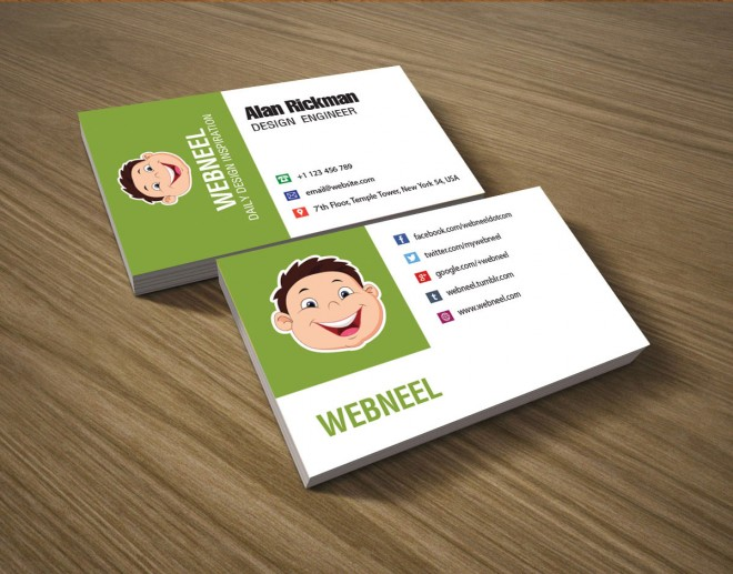 29 colorful business card template - free download