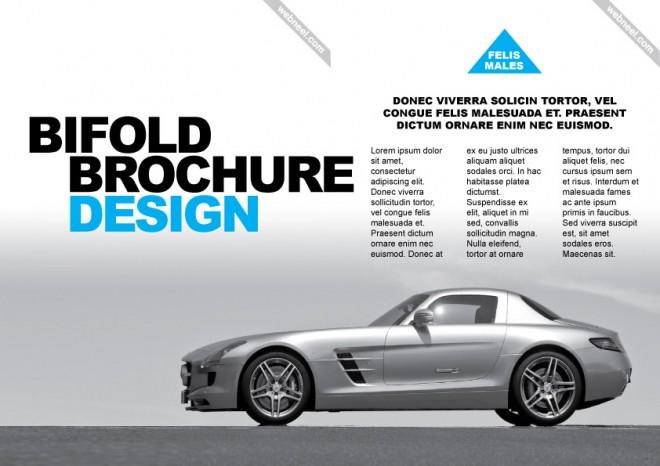 corporate bifold brochure design templates