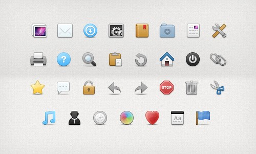 30 lovely toolbar icons