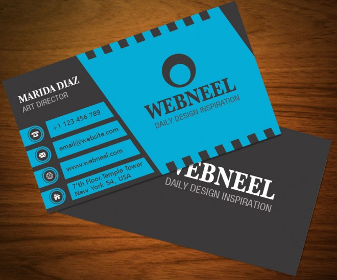 34 dark business card template - free download