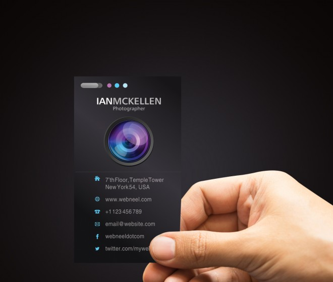 photography business card design template - 35