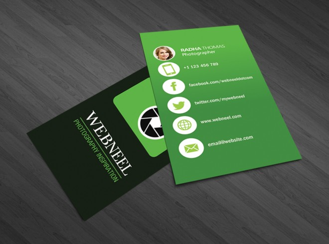 photography business card design template - 38