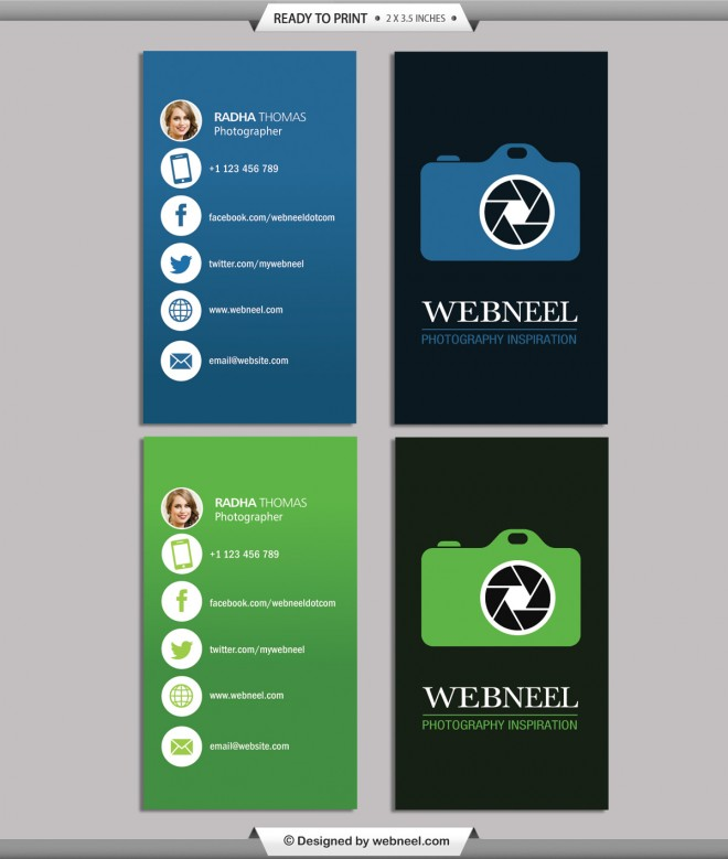 Photography business card design template 38 for Free photography business card template