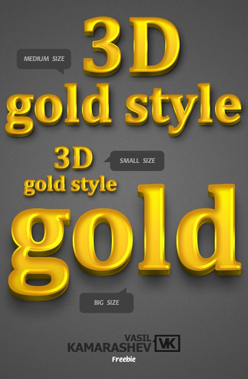 3D%20Gold%20Style Ultimate Collection of 500+ Photoshop Layer Styles for your design   Free Download