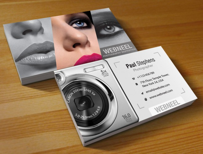 photography business card design template 44