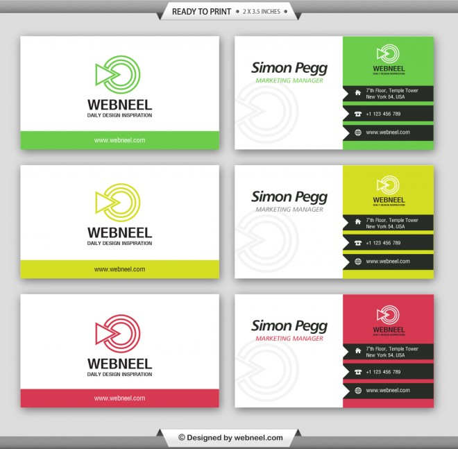 10 professional free business card templates with source files 6 simple business card template wajeb Image collections