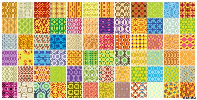 72 retro patterns