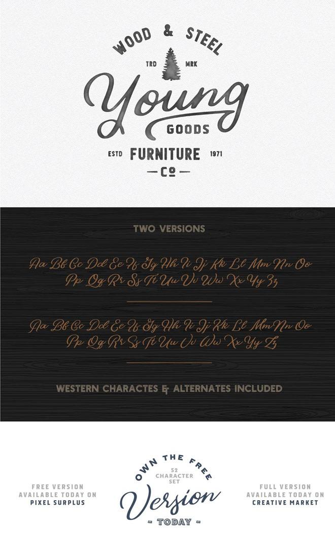free font bonfire
