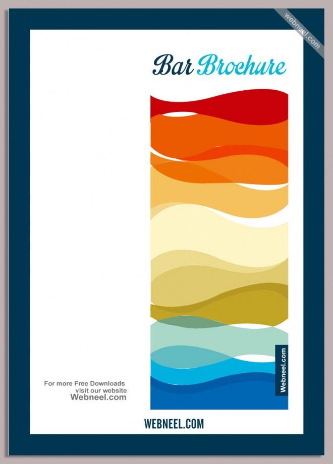 9 colorful a4 brochure design template