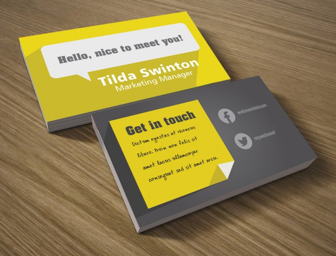 9 modern business card template