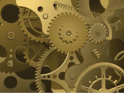 abstract close-up clock work mechanism