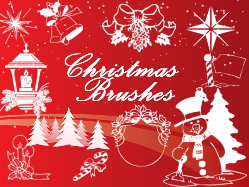 christmas brush