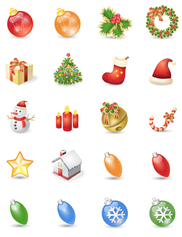 chritmas icon set  - png