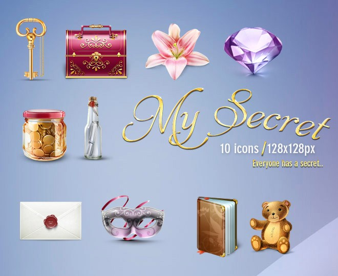 mysecret 10 icons