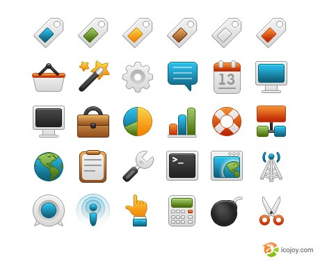 Free icon set - Round icons
