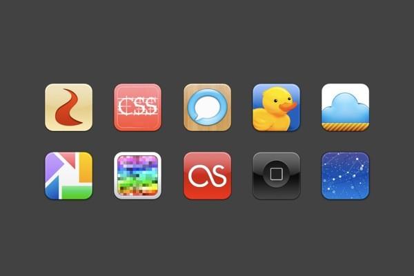 phone icon set