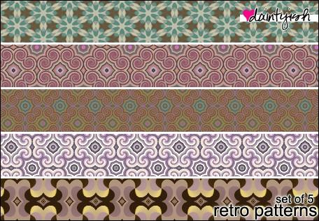 retro patterns daintyish