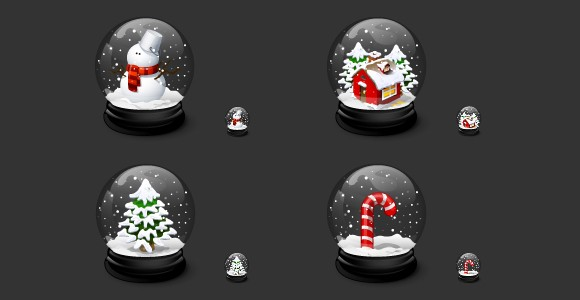 free christmas icons - snow