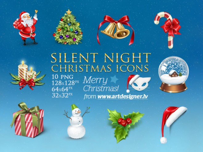 beautiful christmas icon collection