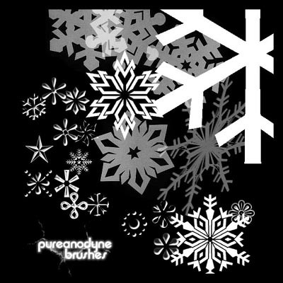 snow flakes 4 - photoshop brush