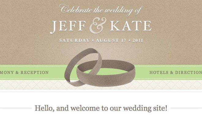 wedding site template - psd html css