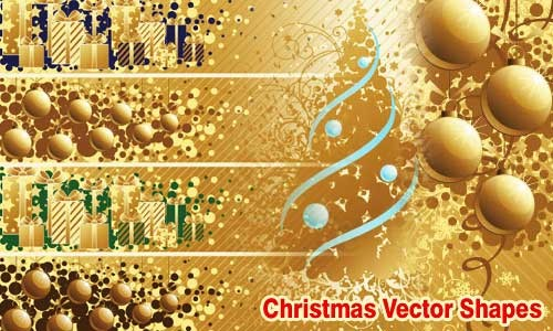 christmas vector shapes for designers eps ai