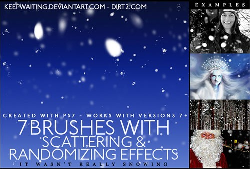 realistic snowflakes brushes