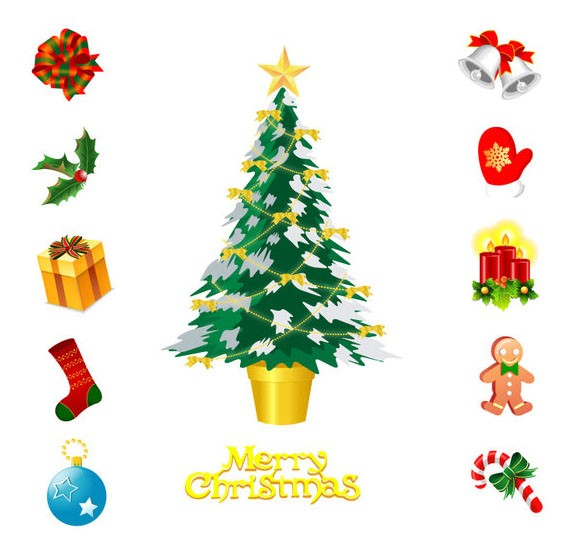 christmas stock objects - ai format