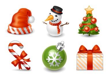christmas - winter holiday icon set