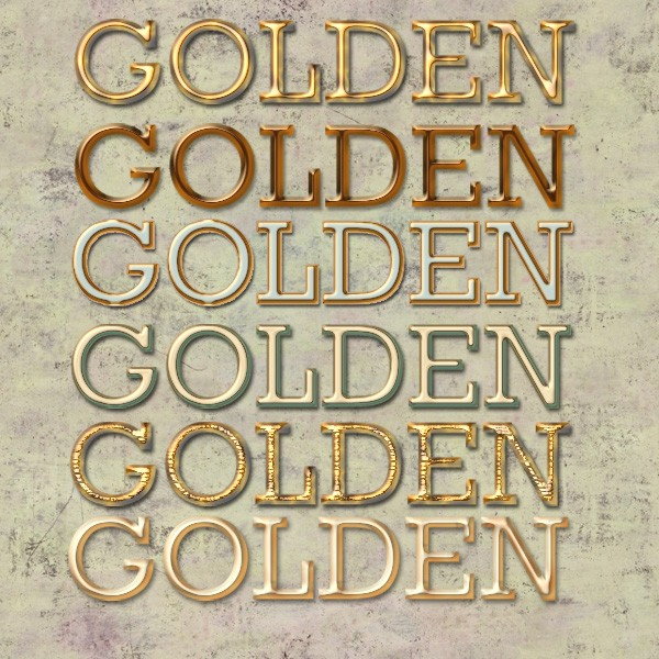 Gold Text Effect Styles