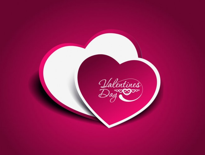 valentine's day colorful heart design abstract background