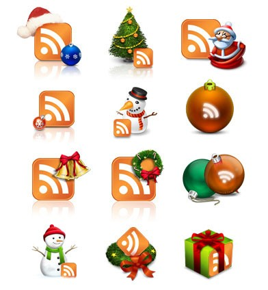 christmas rss icon set by sudilkovsky denis