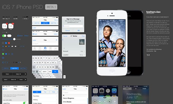 ios 7 ui kit - free psd file