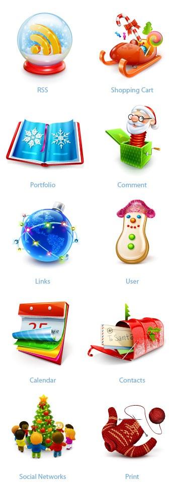 best christmas icon set - from smashing magazine