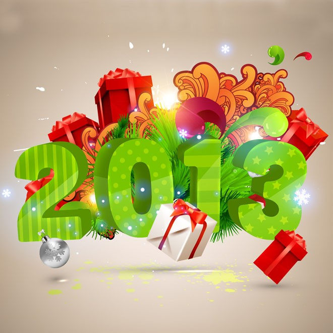 happy new year vector element - eps ai